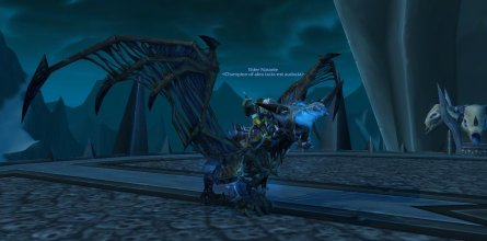 Natanie on her new Frostbrood Vanquisher