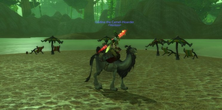 Gillian's Grey Riding Camel! (@Gildina_WoW)