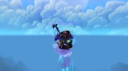 Seok not on a mount but on his Zen Flight