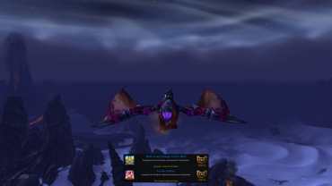 TJ on his Violet Proto-drake from What a Long Strange Trip It's Been achievement