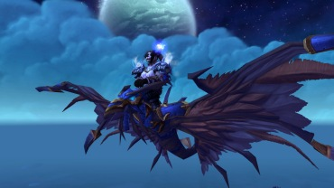 Cinder on her Armored Blue Dragonhawk