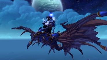 Cinder on her Armored Blue Dragonhawk