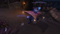 A small bug where a player is still on their mount when they mount up on the Obsidian Nightwing