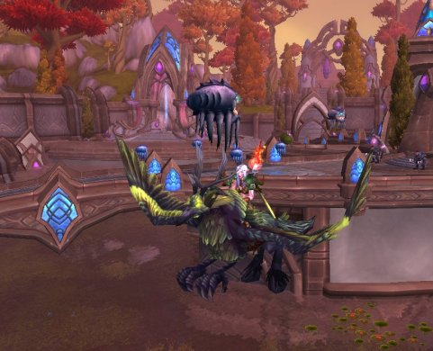 Gildina on her Corrupted Hippogryph