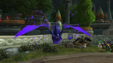 Nigel cox (@bobafettishWoW) on his new priest mount (in shadow form)