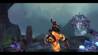 Cinder on her elemental shaman class mount