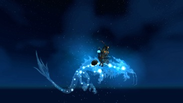 Cinder on her Astral Cloud Serpent (thanks Elegon!)