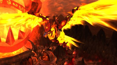 Knave's shaman, Ascetic, on her Pureblood Firehawk